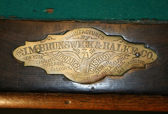 Antique Pool Tables Dr Lori Ph D Antiques Appraiser - How To Identify A Brunswick Pool Table