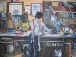 Black Americana painting