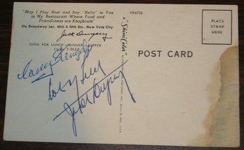 Jack Dempsey autograph