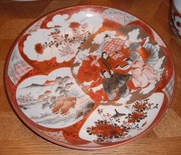 Kutani ware china plate : value of antique plates - pezcame.com
