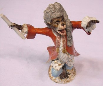 Meissen monkey band conductor