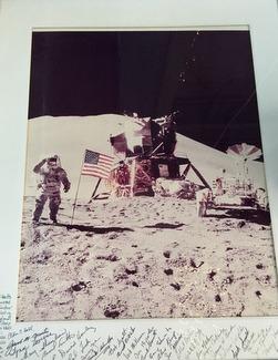 Moon Landing photograph