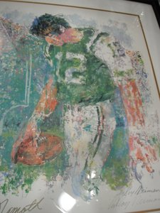 Leroy Neiman print of Joe Namath