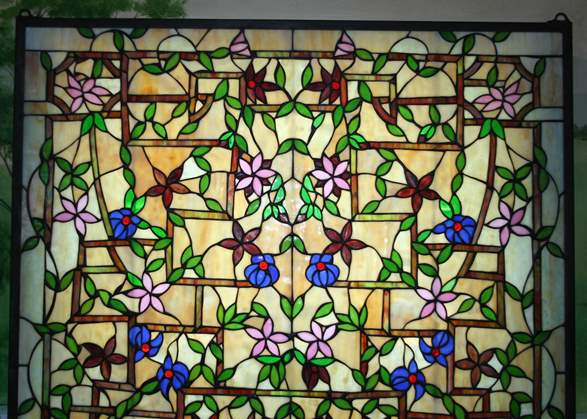 D Stained Glass Flower Patterns