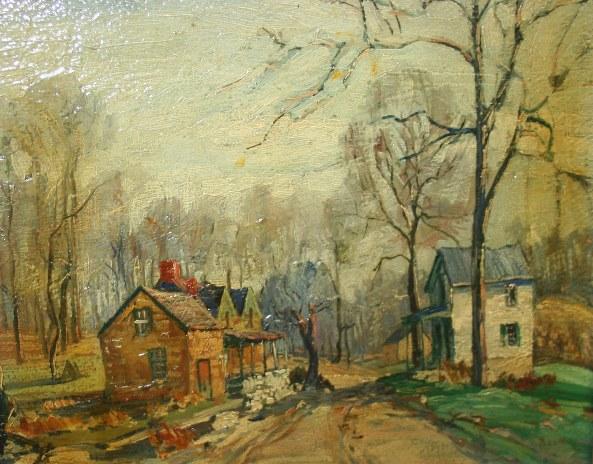 Walter Baum painting