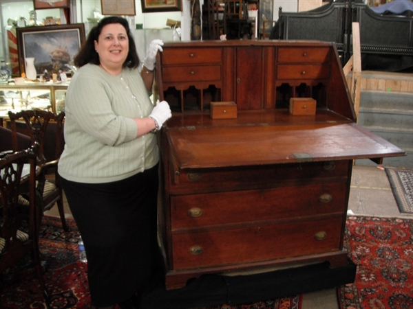 Thomas Jefferson desk and Dr. Lori