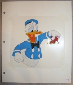 Donald Duck animation cel