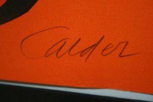 Alexander Calder sign