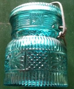 Blue canning jar