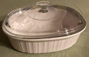 Corningware French White oval