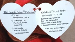 Gobbles Beanie Baby tag