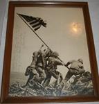Framed Iwo Jima photograph