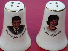 Antique Kennedy salt and pepper shakers