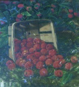 Levi Wells Prentice painting of raspberries