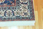Oriental rug on a wood floor