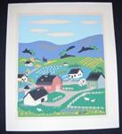 Print of farm scene