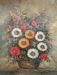 painting of flowers in basket