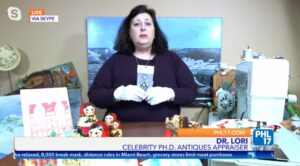 Dr. Lori on WPHL 17 appraising antiques