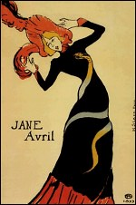 Toulouse Lautrec Jane Avril painting