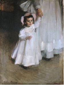 Cecilia Beaux painting of little girl