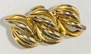bluette vintage costume jewelry earring