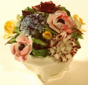 Bone china flower arrangement