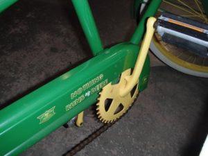 John Deere bike with chain