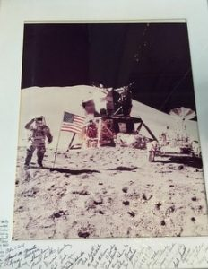 Photograph of moon landing