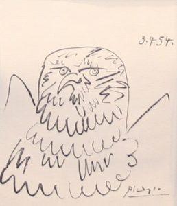 Picasso print of bird