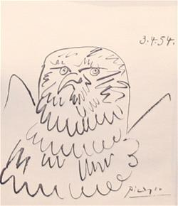 Picasso bird drawing