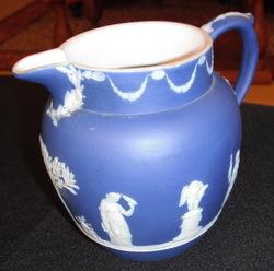 Antique blue pitcher