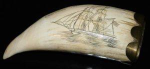 Scrimshaw ivory piece