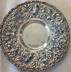 Sterling silver platter