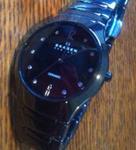 Black wristwatch